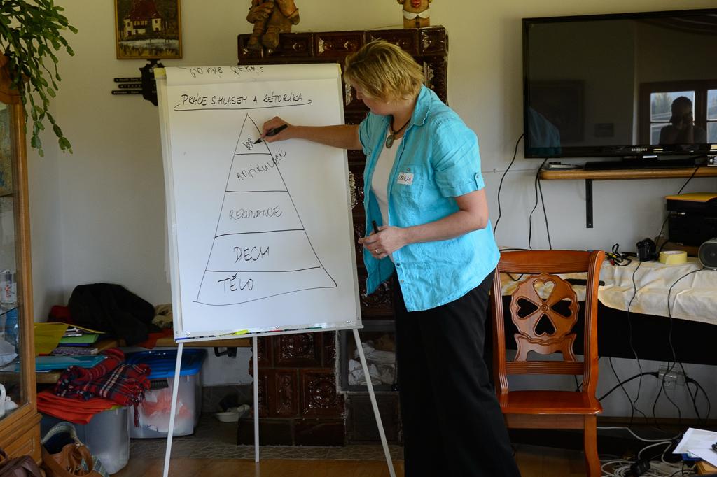 Pracujeme na hlasových dovednostech s Gábinou